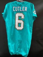 #6 JAY CUTLER MIAMI DOLPHINS GAME USED AQUA NIKE JERSEY SIZE 44 YEAR 2017
