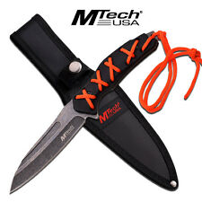 Coltello MTech Fixed Blade Orange Paracord MT2065 Knife Messer Couteau Navaja