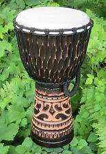 20x11 Deep Carved African Style Djembe Bongo Hand Drum