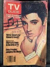1983 Télévision Guide This Semaine Est Elvis Sur NBC Avril 9-15 Écriture Avant