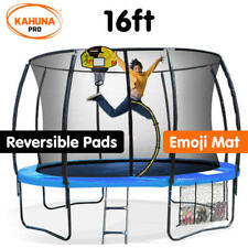 Kahuna Spring 16ft Trampoline w/ Basketball Set