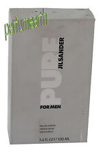 PURE JILSANDER BY JILSANDER 3.4/3.3 OZ EDT SPRAY  FOR MEN NEW IN DAMAGE OPEN BOX