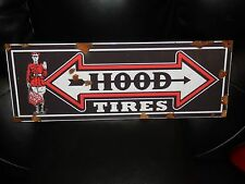 Antique style vintage look Hood tire sales dealer sales sign rare style NICE