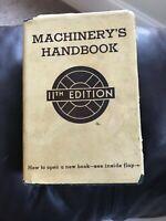 Machinerys Handbook by Erik Oberg and F.D. Jones (Hardcover) 1941 1st ed.