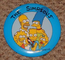LARGE old Bart Simpson Homer Lisa Marge The Simpsons Cartoon Pin OLD STORE STOCK