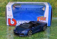 LAMBORGHINI AVENTADOR ROADSTER 1:43 Car NEW Model Diecast Models Blue Die Cast