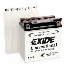 Batterie Moto Exide YB9-B EB9-B 12V 9AH 100A 135X75X140MM ACIDE COMPRIS