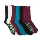 6 Pairs: Nicole Miller Women's Assorted Duster Crew Socks - Size 9-11