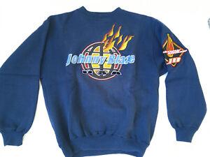 Johnny Blaze Vintage 90's Boxer Method Man Hoodie Sweater Blue Size Medium