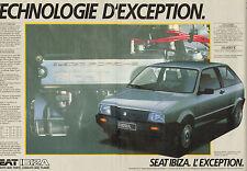 Publicité Advertising 1984  ( Double page )  SEAT IBIZA 1.5 GLX  ...