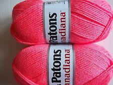 Patons Canadiana worsted yarn, Bubble Gum, lot of 2 (205 yds each)