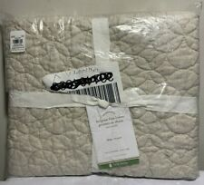Pottery Barn King Belgian Flax Linen Geometric Sham, New w/ Tags, Free Shipping