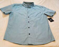 New Men O'Neill Banks Dress Shirt bottom up Color Tel Size Medium.
