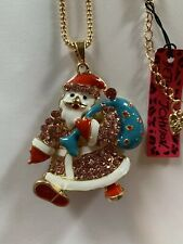Betsey Johnson PINK DRESSED Santa Claus WITH BLUE TOY BAG-BJ40084