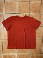 Nike Embroidered Swoosh Shirt Sz 3XL Red Athletic Cut Air Logo Tee Classic