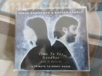 German 4-Track CD Single Time To Say Goodbye Sarah Brightman Andrea Bocelli Fly