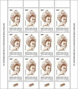 Togo Definitives Stamps 2020 MNH Bella Bellow Singers Music Reissue 600F 12v M/S