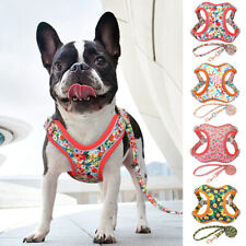 Reflective Dog Step In Harness and Leash Pet Mesh Padded Vest Adjustable Bulldog