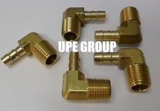 (5 Pieces) 1/4 HOSE BARB ELBOW X 1/8 MALE NPT Brass Pipe Fitting Gas Fuel Water