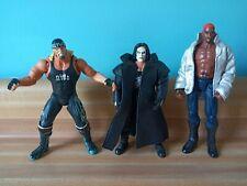 WWE/WCW/NWO action figures loose lot of 3. Hogan, Sting and Rodman orange hair.