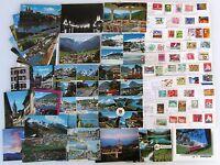 Postkarten Lot SCHWEIZ 62 Ansichtskarten mit Briefmarken frankiert ab/nach 1959