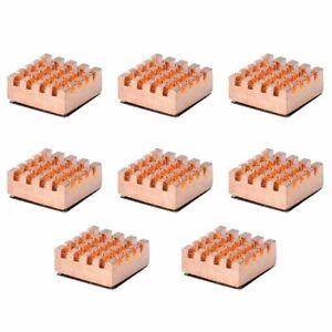 8PCS 12x14mm Pure Copper RAM Heat Sink Cooling Fin Heatsink For Video Card FOY