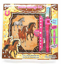 Girls Secret Message Diary Gift Set with Pen Notebook Journal - HORSE