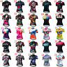 Women's Short Sleeve Cycling Jersey Ladies Reflective Cycle Clothing Shirt Top