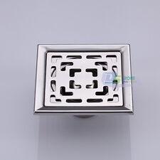 Stainless Steel Square Bathroom Kitchen Shower Floor Drain Waste Grate Anti-odor