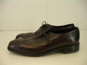 Florsheim Mens 9.5 B N Shoes Lexington Wingtip Oxfords Burgundy Cordovan Leather