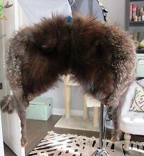 Vintage genuine brown fox fur shoulder SHAWL STOLE BOLERO SHRUG COLLAR WRAP.