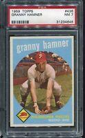 1959 Topps Baseball #436 GRANNY HAMNER Philadelphia Phillies PSA 7 NM