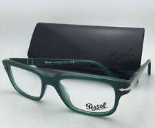 """Film Noir Edition"" PERSOL Rx-able Eyeglasses 3073-V 1001 52-18 Opal Green Frame"