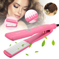 2 in 1 Curler & Straightener Hair Clipper Iron Curling Ceramic Wave Roller Wand