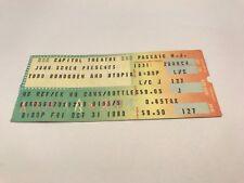 Rare Todd Rundgren And Utopia Original Concert Ticket Stub 10/31/80 Capital