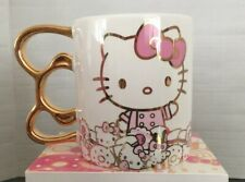 Nib Hello Kitty Grand Cafe Exclusive Le Gold Bow Handle Mug