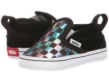 "Vans Crib Slip On V ""Iridescent Checkerboard"" Baby Toddler Shoes Vn0A2Xslsry"