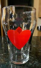 """Playing Card"" Logo 7"" Tall Drinking Glass 32 oz. Heart Club Spade & Diamond"