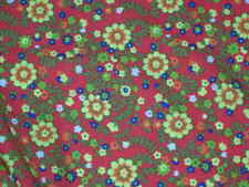 nylon lycra sport fabric stretch material flowers 4Way colorfast By the yard