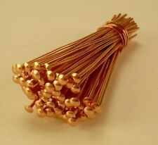 "1 "" 26 GA SOLID COPPER  HEAD PINS 50 PCS. MADE IN USA"