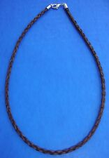"""Western Jewelry 18"""" Braided Sorrel Horse Hair 4 MM Necklace"""