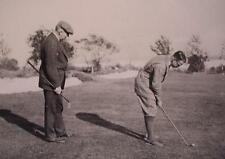 Negative Glass Slide 1920's Two Men Playing Golf Dressed in Suits Cape Cod