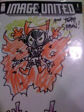 ORIGINAL ART BALTAZAR SPAWN COMIC ART SKETCH! AWW YEAH!