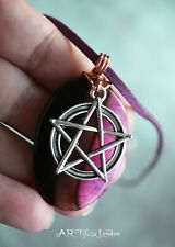 Dragon Vein Agate Pendant & Necklace | Pentacle Pagan Wicca Protection Jewellery