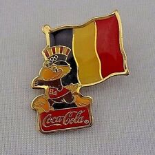 1980 Coca Cola Coke Sam The Eagle France Flag Vintage Lapel Pin Rare