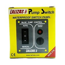 Lalizas Boat Bilge Pump Switch Waterproof Switch Panel