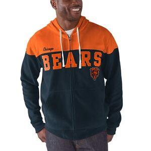 G-III Sports Chicago Bears Men's First Down Fleece Full Zip Hoody Sweatshirt