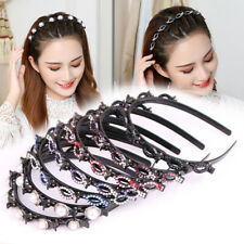 Women Braided Hairpin Hairband Bang Clips Double Bang Hairstyle Hair Accessories