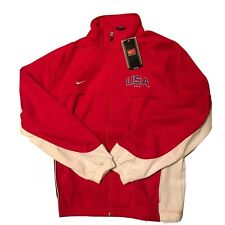 Nike Team Mens XL Retro Full Zip USA Red Jacket FREE SHIPPING