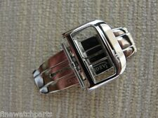 New HQ 316L 18mm Stainless Steel Silver Deployment Buckle-Clasp Fit JLC Strap